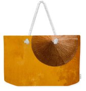 Ochre Wall Conical Hat Weekender Tote Bag