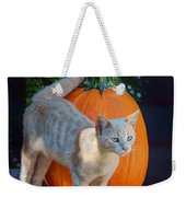 October Kitten #1 Weekender Tote Bag