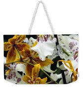Gold And White Orchids Weekender Tote Bag