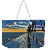 October Sunset At St. Joseph Lighthouse - Simulated Oil  Weekender Tote Bag