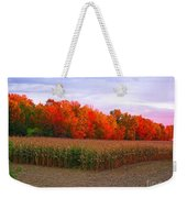 October Sunset On The Autumn Woods Weekender Tote Bag