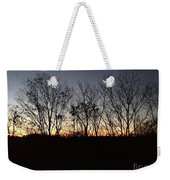 October Sunset Trees Silhouettes Weekender Tote Bag