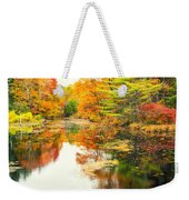 Octobers Paintbrush Weekender Tote Bag