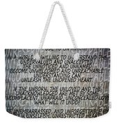 Ode To Un Weekender Tote Bag