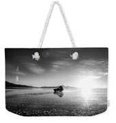 Off Road Uyuni Salt Flat Tour Black And White Weekender Tote Bag