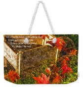 Oh How I Love Autumn With Poetry Weekender Tote Bag