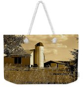 Ohio Farm In Sepia Weekender Tote Bag by Frozen in Time Fine Art Photography