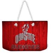 Ohio State Buckeyes Barn Door Vignette Weekender Tote Bag