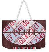 Ohio State Buckeyes Football Recycled License Plate Art Weekender Tote Bag