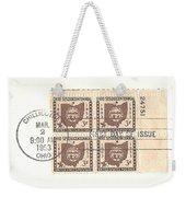 Ohio Three Cent Stamp Plate Block Weekender Tote Bag