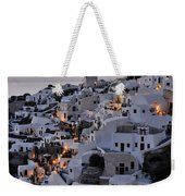 Oia Town During Sunset Weekender Tote Bag