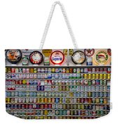 Oil Cans And Gas Signs Weekender Tote Bag by Garry Gay