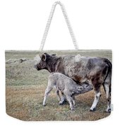 Oil Paint Look Cow And Calf Portrait Usa Weekender Tote Bag