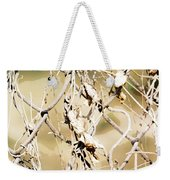 Oil Painting - A Cross Link Fence Weekender Tote Bag