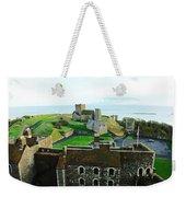 Oil Painting - Aerial View Of Dover Castle Weekender Tote Bag