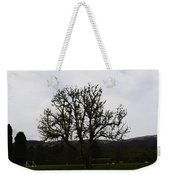 Oil Painting - An Old Tree In The Middle Of A Garden And Playground Weekender Tote Bag
