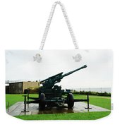 Oil Painting - Anti Aircraft Gun At Dover Castle Weekender Tote Bag