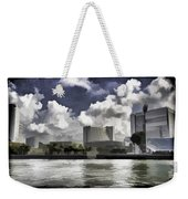 Oil Painting - Buildings Along The Waterfront In Singapore Weekender Tote Bag