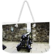 Oil Painting - Cannons And Cannon Balls At Walls Of Stirling Castle Weekender Tote Bag