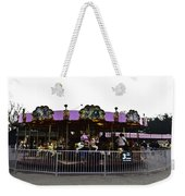 Oil Painting - Children And Adults At The Merry Go Round Inside The Blair Drumm Weekender Tote Bag