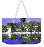Oil Painting - Cottages And Lagoon Water Weekender Tote Bag