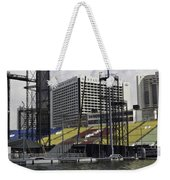 Oil Painting - Floating Platform And Construction Site In The Marina Bay Area Weekender Tote Bag