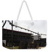 Oil Painting - Lighting Support In Front Of Stands For The Formula One Race In Singapore Weekender Tote Bag