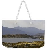 Oil Painting - Rugged Shoreline And Waters Of A Loch In The Scottish Highlands Weekender Tote Bag