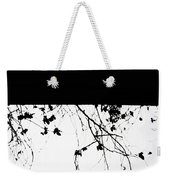 Oil Painting - Small Plant Branches Falling Over A Ledge - Horizontal Weekender Tote Bag