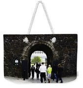 Oil Painting - Staff And Tourists At The Entrance Of Stirling Castle Weekender Tote Bag