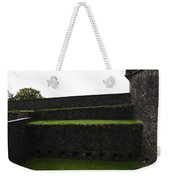 Oil Painting - The Depth Of The Moat Now Covered With Grass At Stirling Castle Weekender Tote Bag
