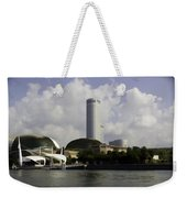 Oil Painting - The Swissotel Is A Tall Hotel In Singapore Next To The Esplanade Weekender Tote Bag