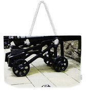 Oil Painting - Tourists And Cannons With Ammunition At The Wall Of Stirling Castle Weekender Tote Bag