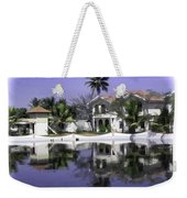 Oil Painting - View Of The Cottages And Palm Trees Weekender Tote Bag