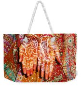 Oil Painting - Wonderfully Decorated Hands Of A Bride Weekender Tote Bag