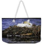 Oil Painting Nesting Swan Michigan Weekender Tote Bag