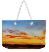 Oil Painting - When The Clouds Turn Red Weekender Tote Bag