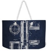Oil Well Packer Patent From 1904 - Navy Blue Weekender Tote Bag