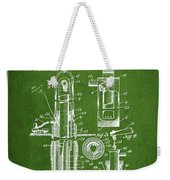 Oil Well Pump Patent From 1912 - Green Weekender Tote Bag