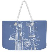 Oil Well Pump Patent From 1912 - Light Blue Weekender Tote Bag