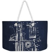 Oil Well Pump Patent From 1912 - Navy Blue Weekender Tote Bag
