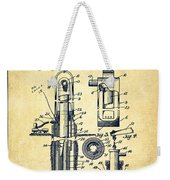 Oil Well Pump Patent From 1912 - Vintage Weekender Tote Bag