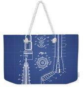 Oil Well Reamer Patent From 1924 - Blueprint Weekender Tote Bag