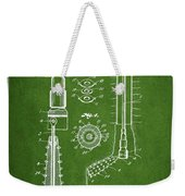 Oil Well Reamer Patent From 1924 - Green Weekender Tote Bag