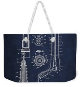 Oil Well Reamer Patent From 1924 - Navy Blue Weekender Tote Bag