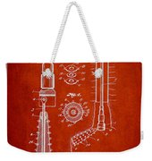 Oil Well Reamer Patent From 1924 - Red Weekender Tote Bag