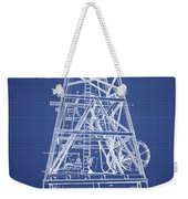Oil Well Rig Patent From 1893 - Blueprint Weekender Tote Bag