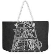 Oil Well Rig Patent From 1893 - Dark Weekender Tote Bag