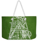 Oil Well Rig Patent From 1893 - Green Weekender Tote Bag