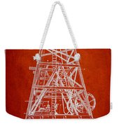 Oil Well Rig Patent From 1893 - Red Weekender Tote Bag
